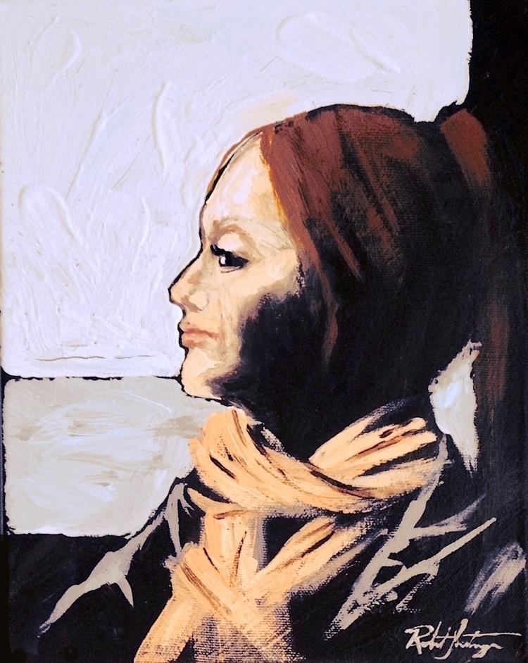 Olga Sur Seine, Inestroza Acryl - atelieri | ello