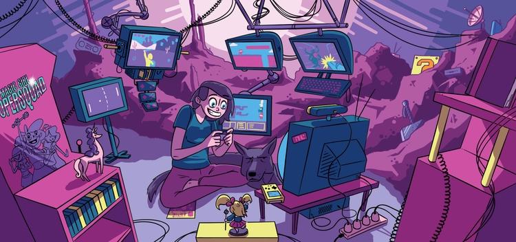 Illustration set Gaming Broad(l - kyarm | ello