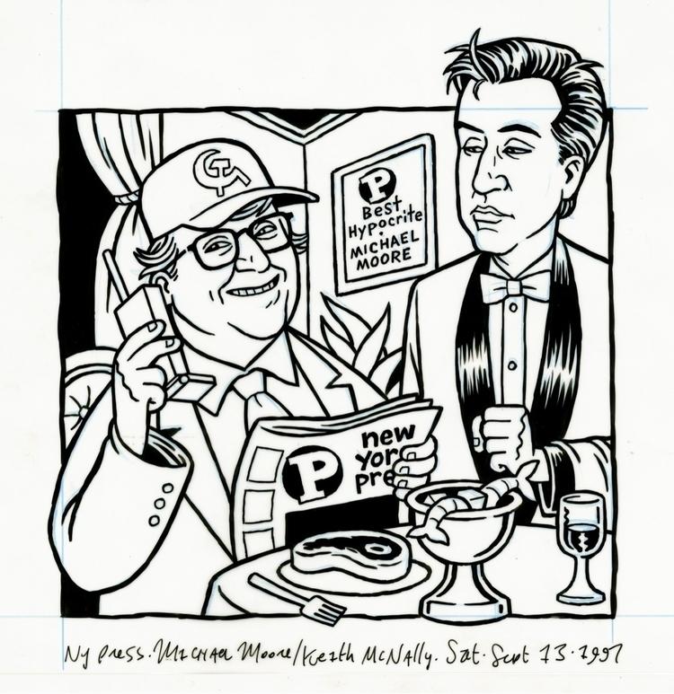 Michael Moore Keith McNally, il - dannyhellman | ello