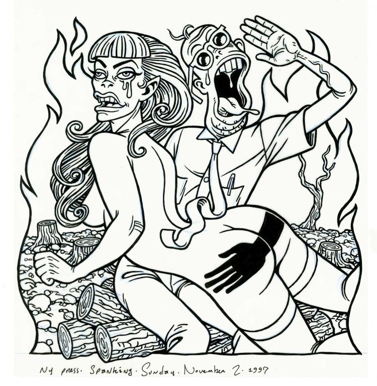 Spanking illo NYPress, 11/2/97 - dannyhellman | ello