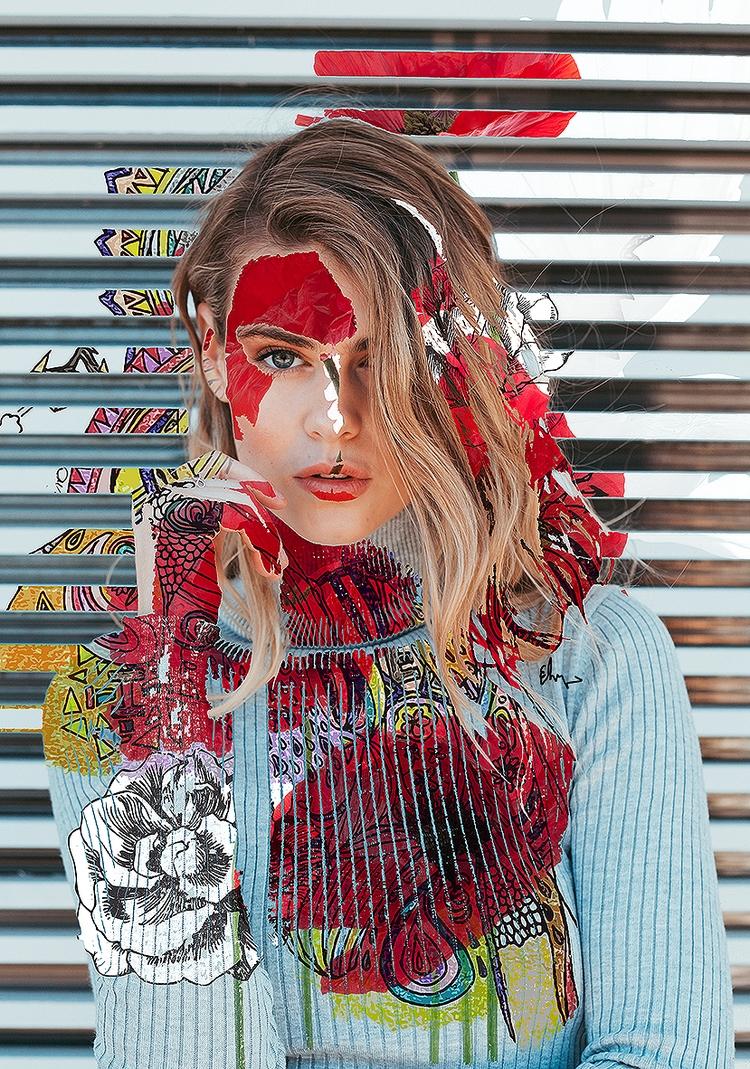 stripes - photomanipulation, digitalart - andaelentari | ello