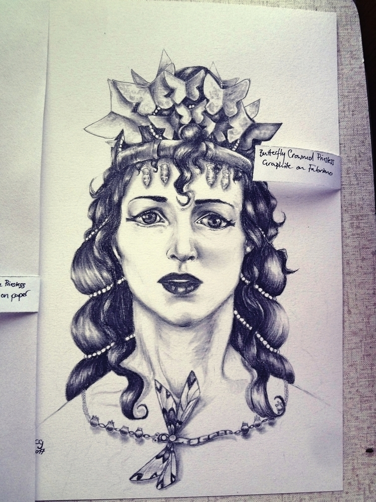 Butterfly Crowned Priestess 201 - clovecigarettes | ello