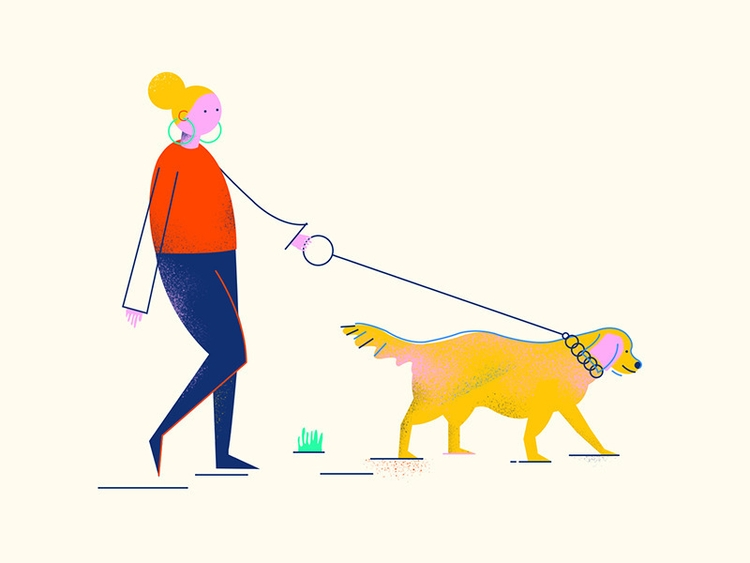 Walking - walking, illustration - busrauzgun | ello
