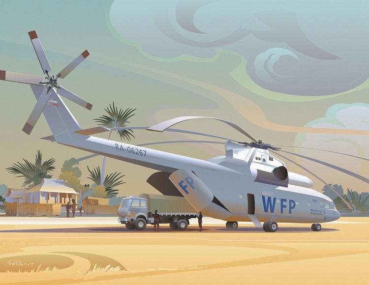 Illustrations Abakan Air calend - art_bat | ello
