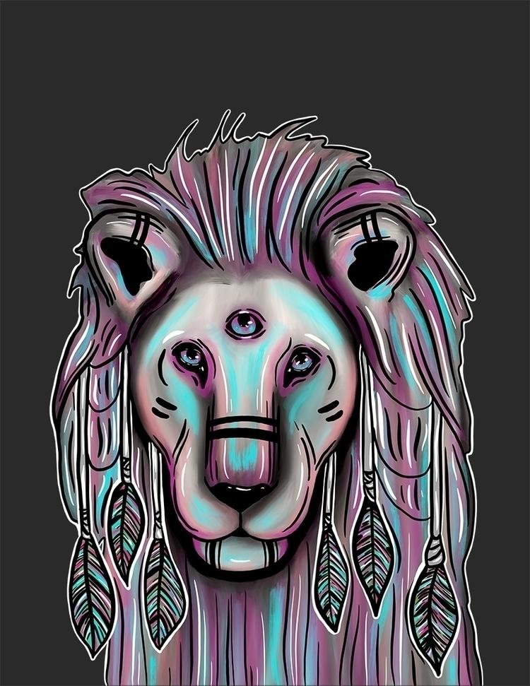 Lion: Digital Art - weirdart, Illustration - venusrain | ello