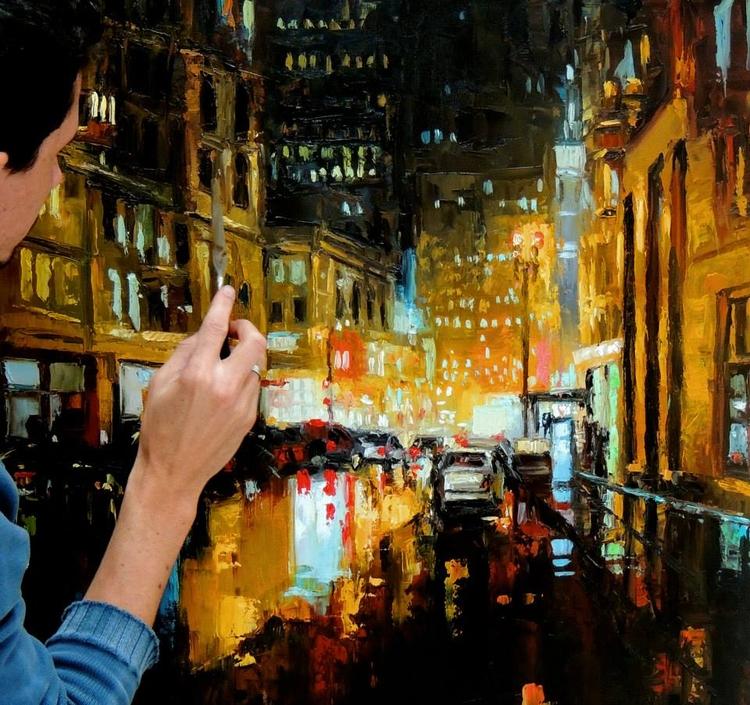 Noite - pintura óleo sobre tela - fabianomillani | ello