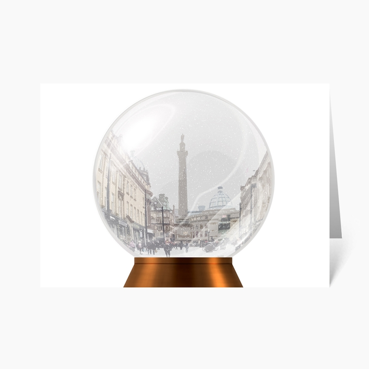 Newcastle Monument Snow Globe C - wonderfulcraftcards | ello