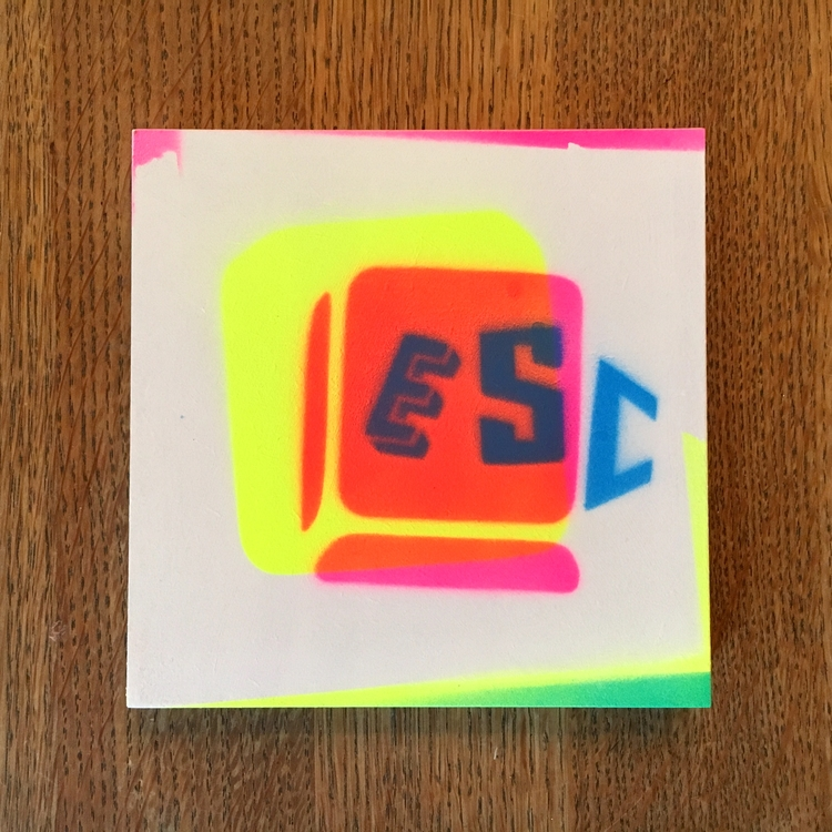 esc / spraypaint wood 13,5 cm - atzeanalogue | ello