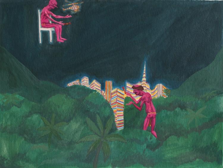 Índios - painting, art, gouache - rseles | ello