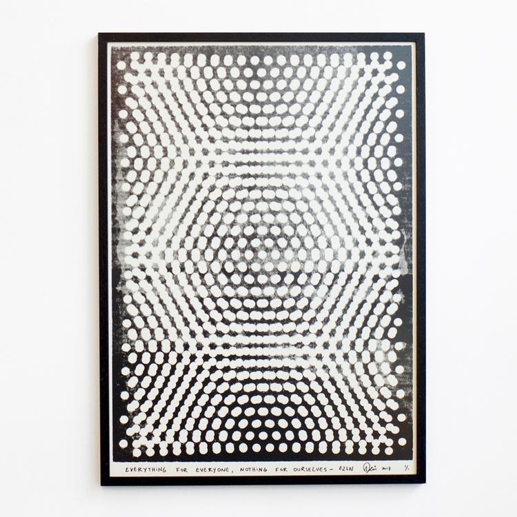 50 70 cm Screenprint Hahnemühle - peim   ello
