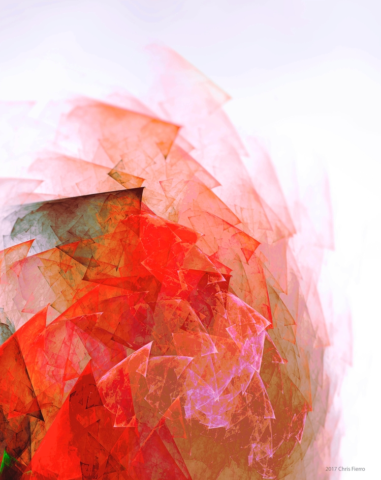 Translucent rose / digital abst - chrisfierro | ello