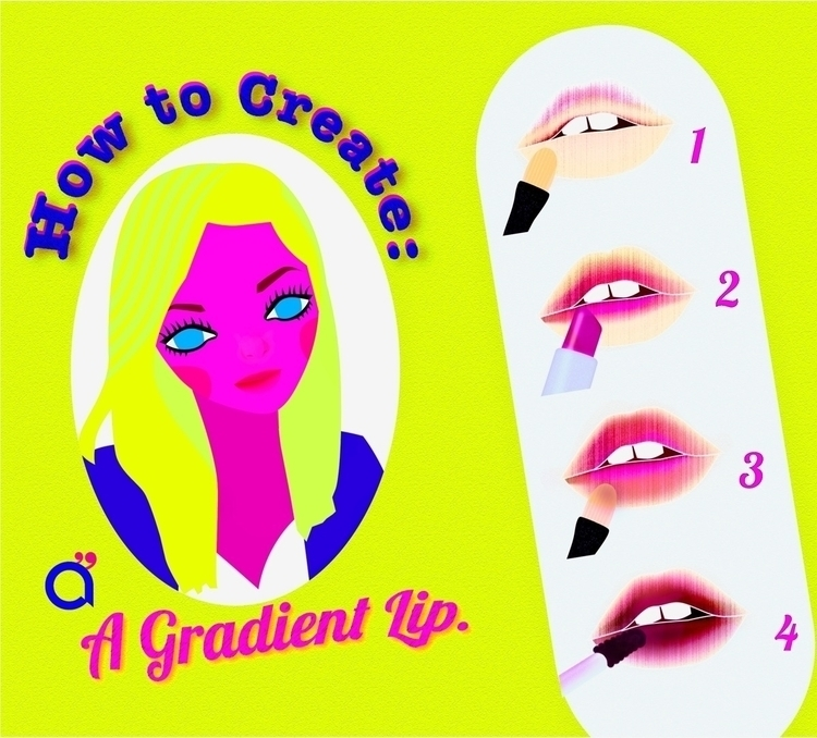Create Gradient Lip. 3. Makeup  - ciodesign   ello