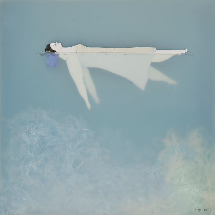 Afloat (Water Woman - surrealism - soniaalins | ello