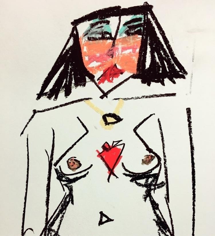 art, nude, portrait, drawing - jkalamarz | ello