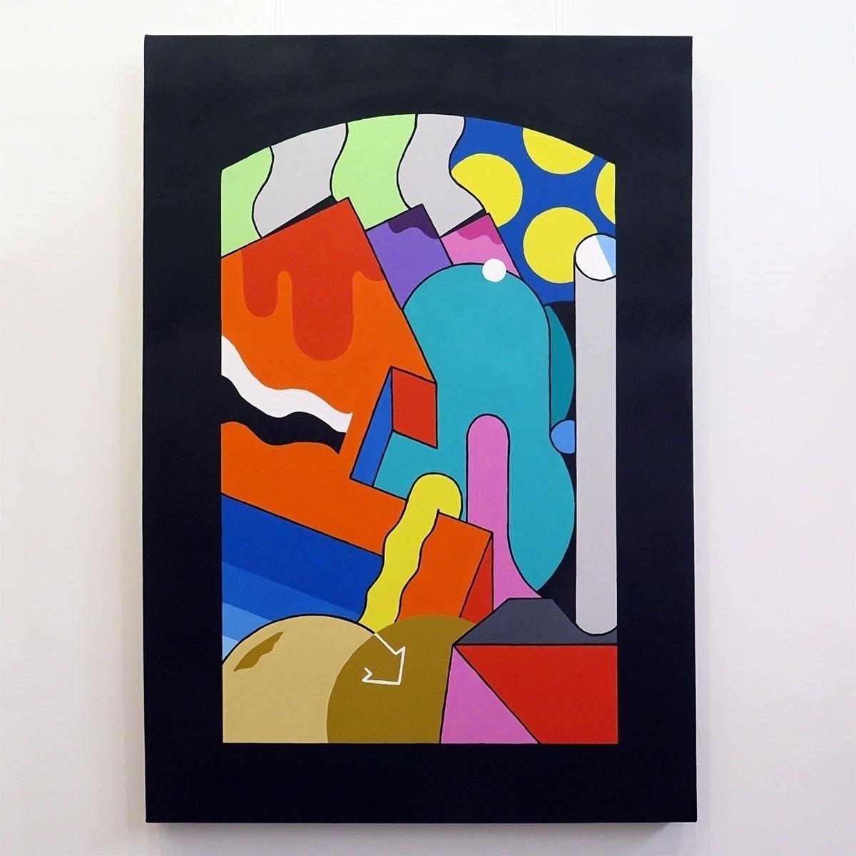 'Sixth Portal' Acrylic canvas.  - darrenjohn | ello