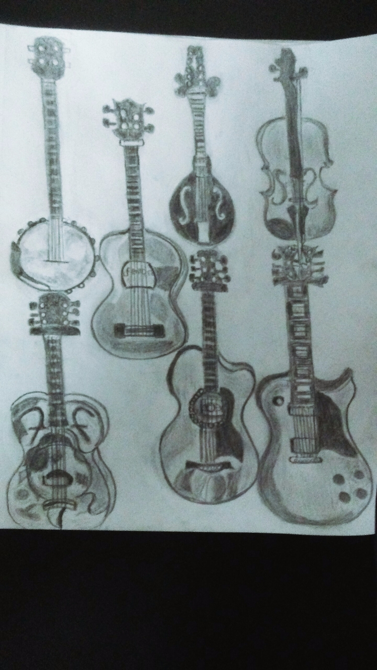 Stringtime Pencil Drawing - kathryn_savino | ello
