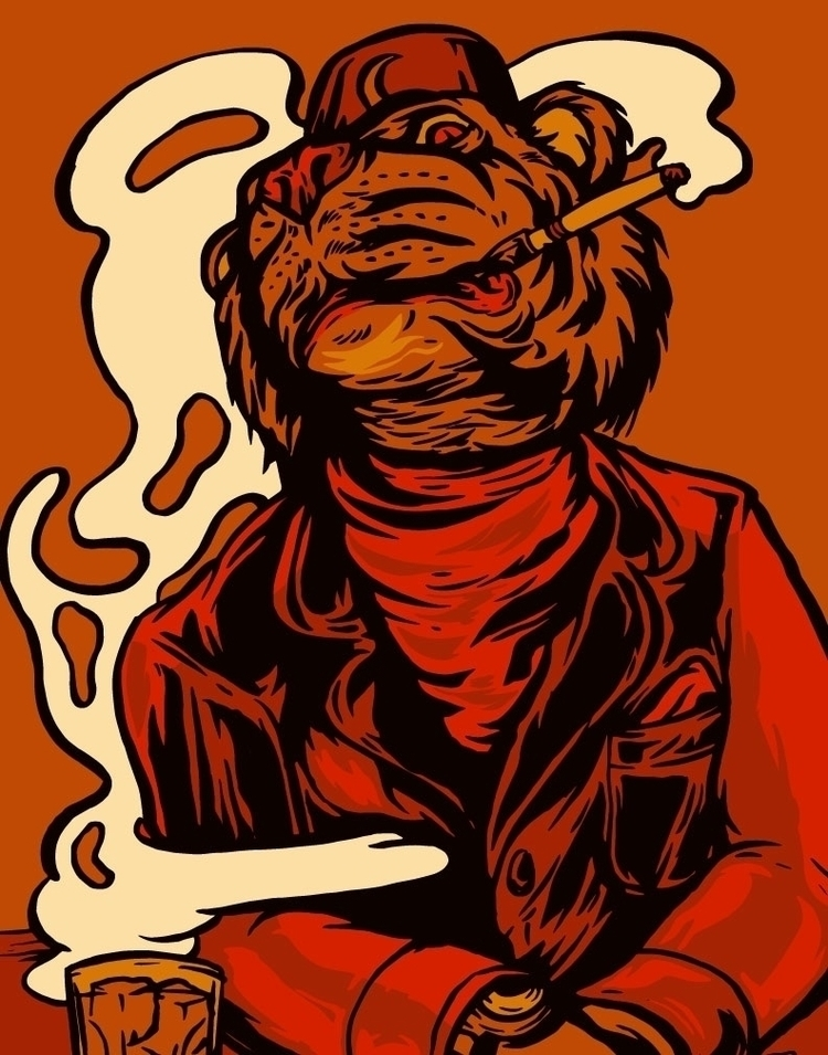 Tipsy Tiger - illustration - thomcat23 | ello