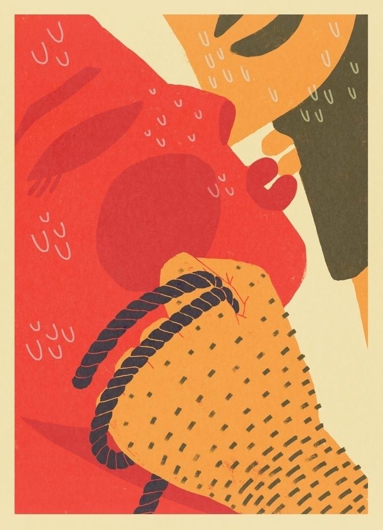 illustration, eroticartweek - sleepydolphin | ello