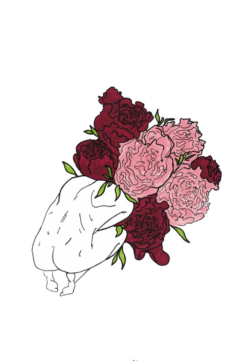 Elysium - art, flowers, design, minimalist - alexsappy | ello