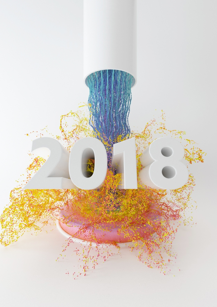 Happy 2018, happiness flow. + - c4d - dannyivan | ello