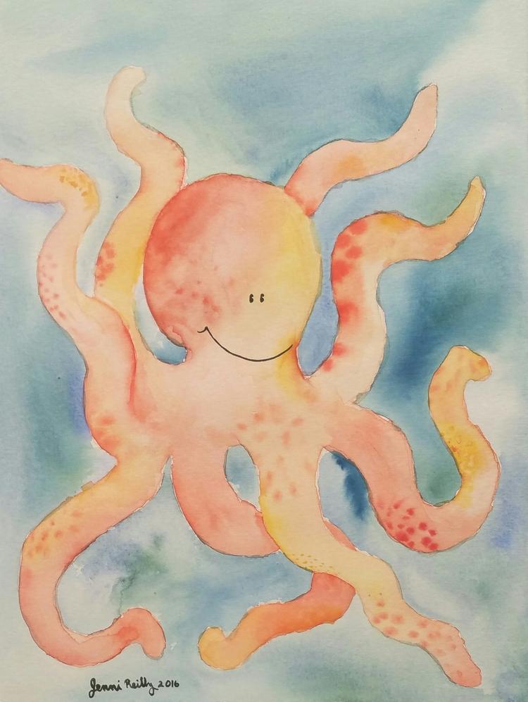 Happy Octopus - msreillyartteacher | ello