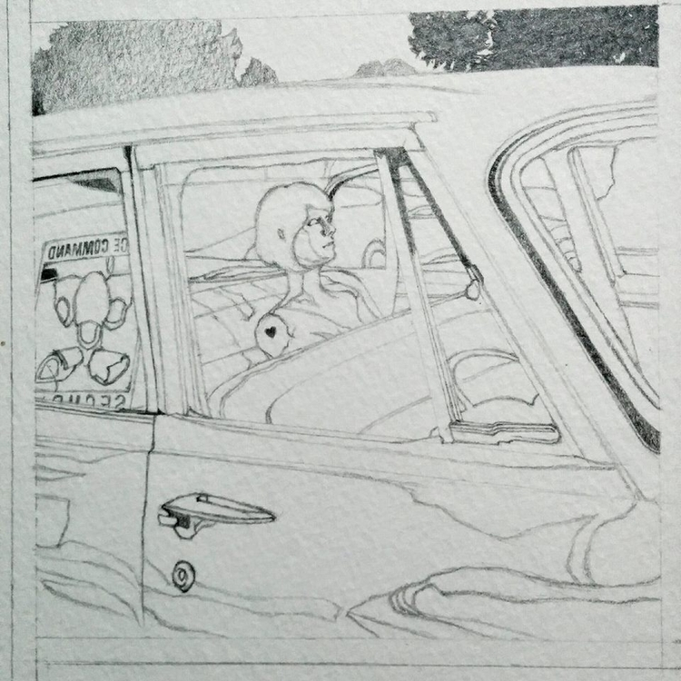Outlining complete! scene comic - enelojial   ello