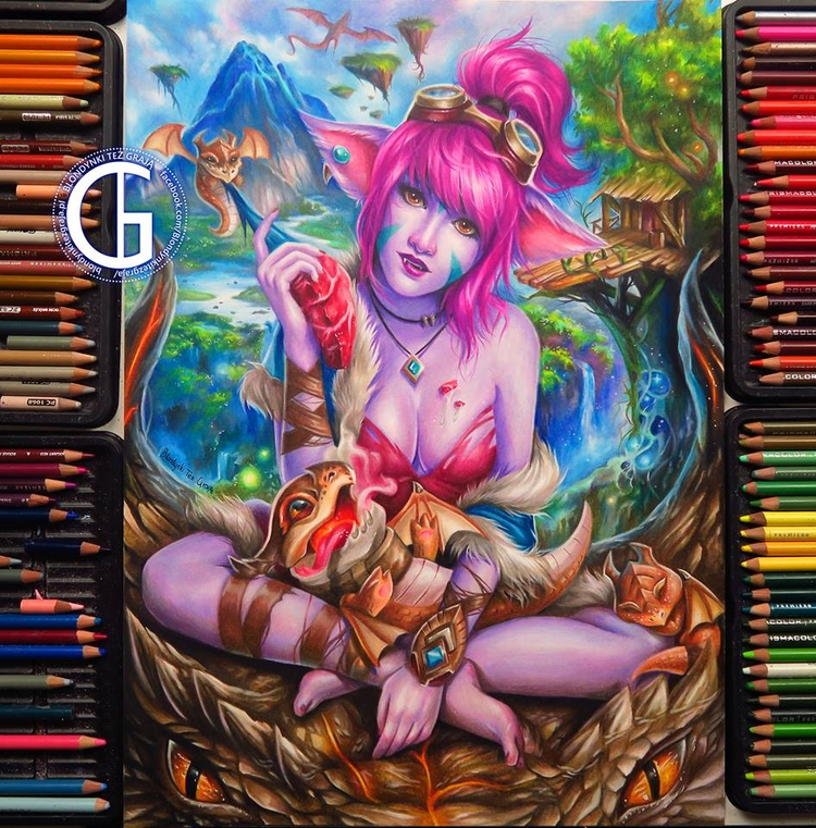 drawing! colored pencils  - boobs - blondynkitezgraja | ello
