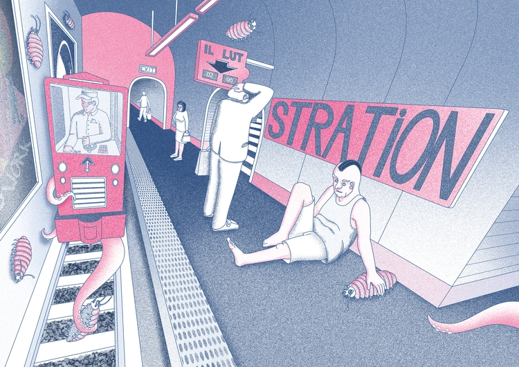 Il lut stration - illustration, illustrator - tomrouleau   ello