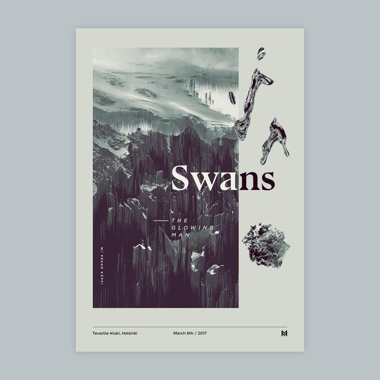 Gig poster project - Swans. Pos - mcinen | ello