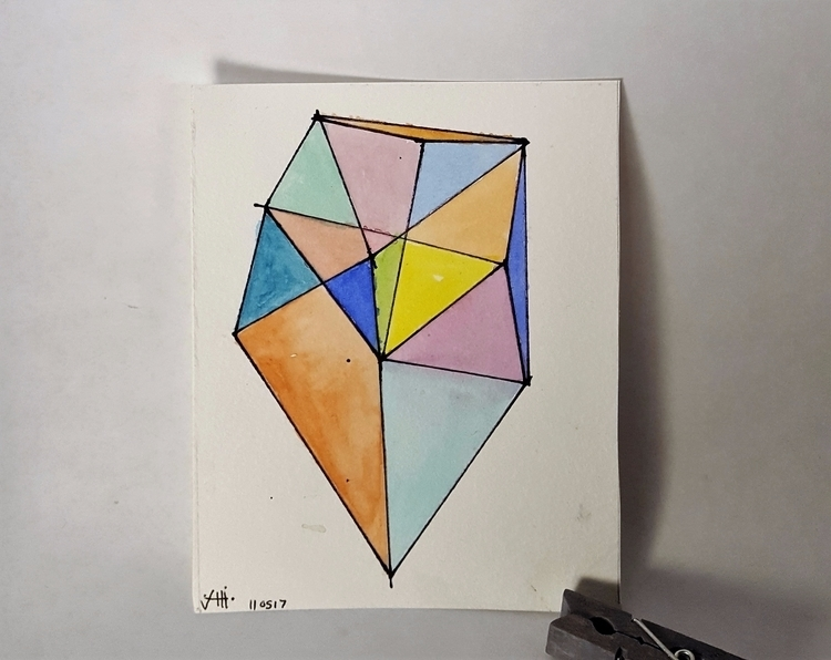 watercolor, shapes - sarahthebeanstalk   ello