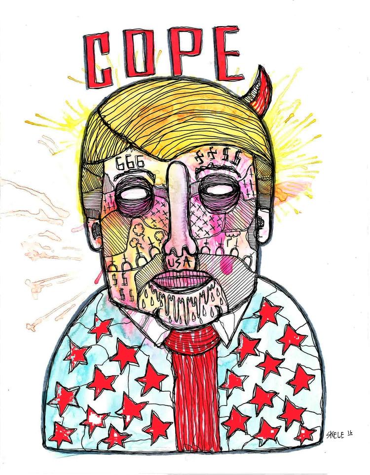 COPE - watercolor, paper, penandink - skeleartart | ello