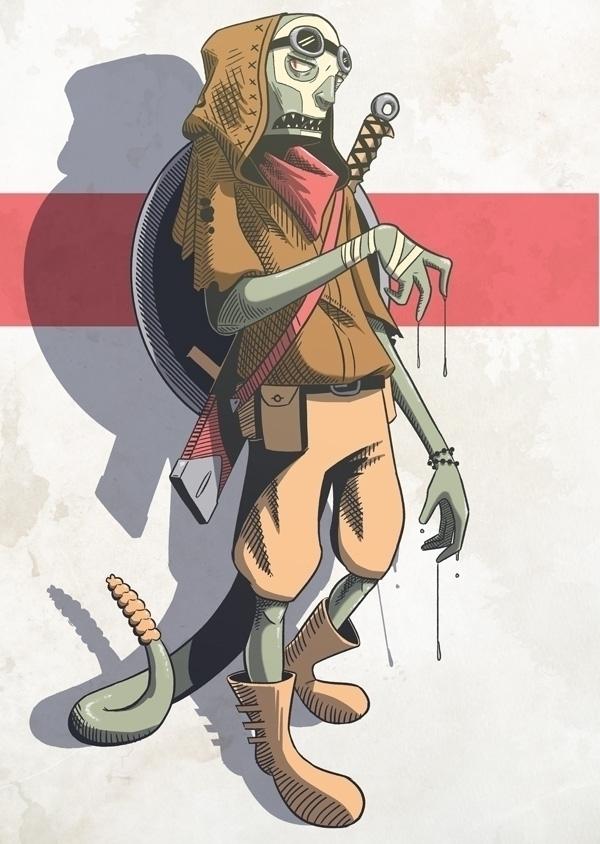 Tucker. Desert raider - illustration - kyarm | ello