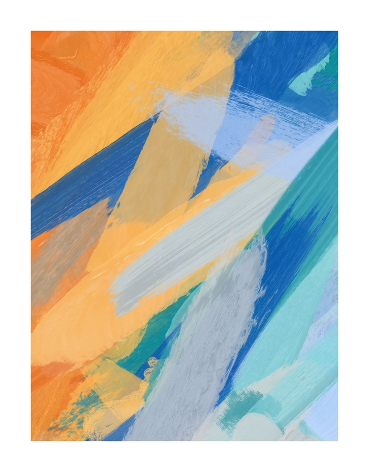 Blue oil canvas 75 70 cm - esergiev   ello