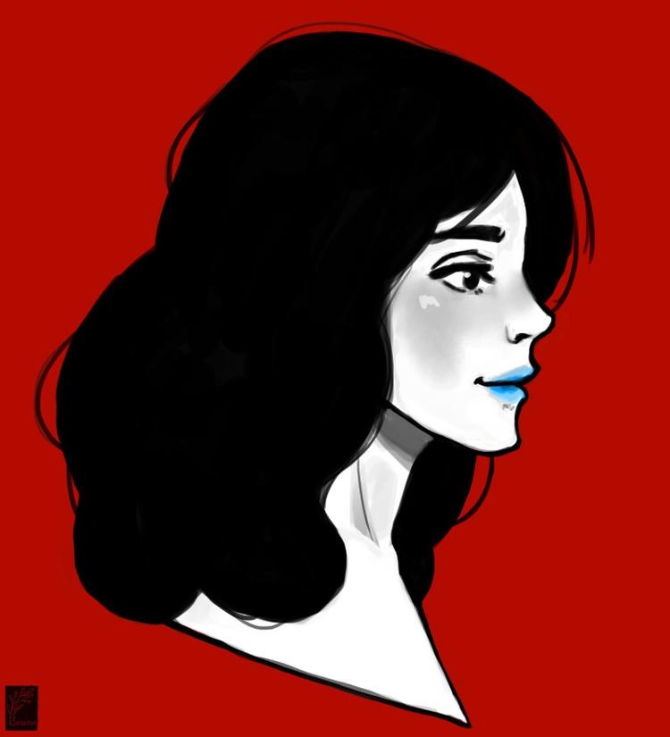 Red. 365 days drawing challenge - sirinezou | ello