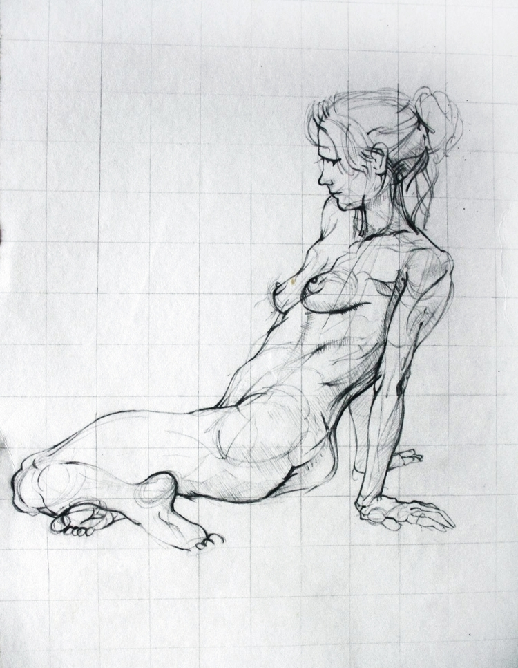 Naked lady paper - Draw, Art, Sketchbook - theirisvision | ello