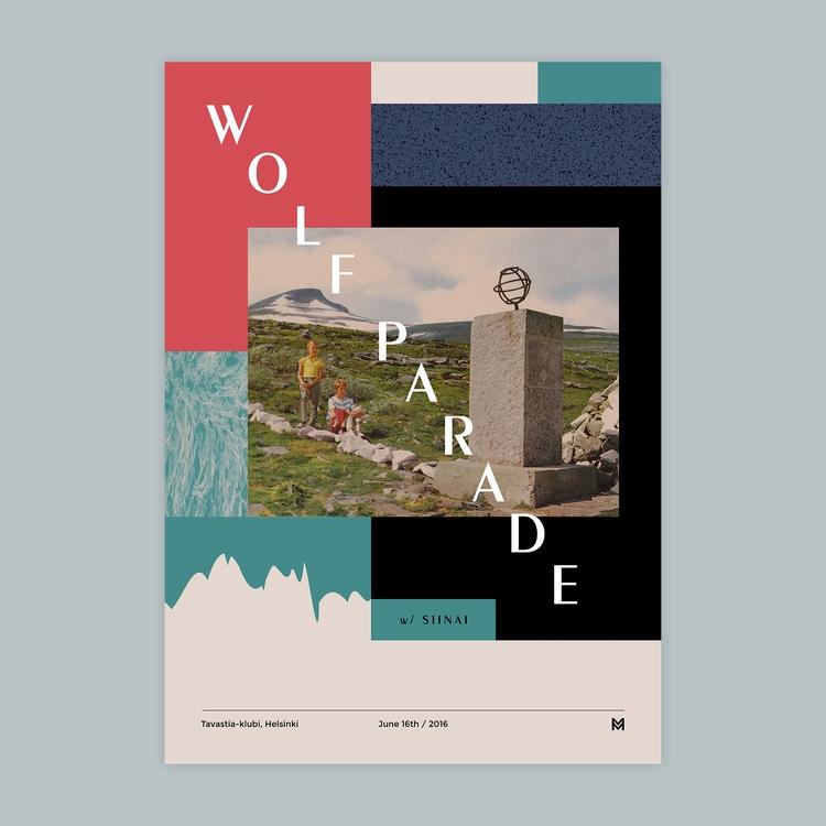 Gig poster project - Wolf Parad - mcinen | ello
