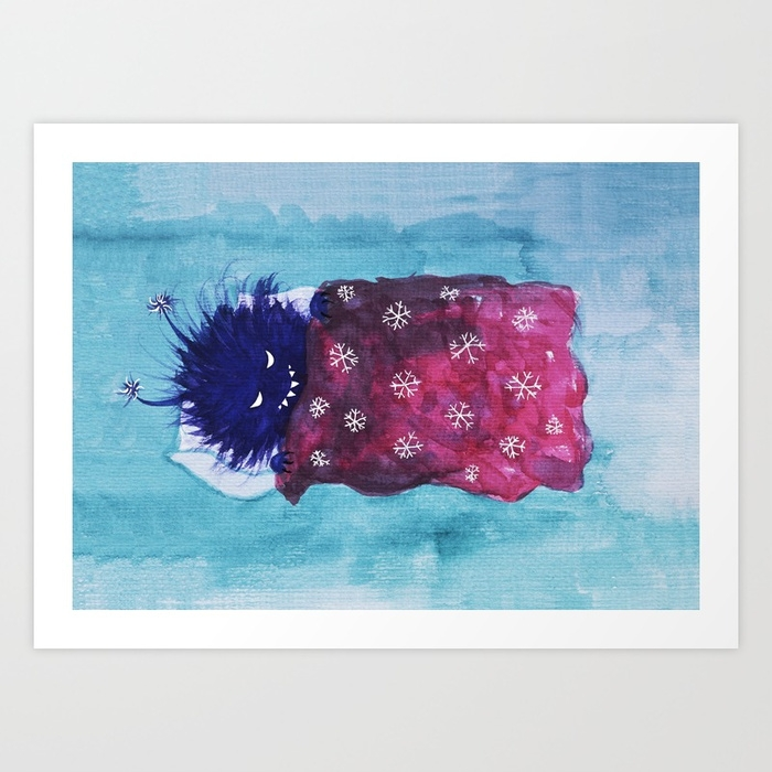 Cute Evil Bug Sleep - illustrtation - borianag | ello