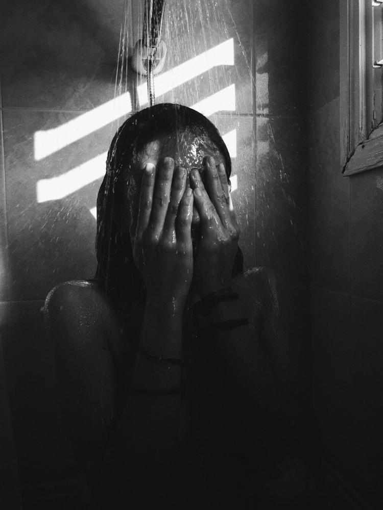 melancholy - shower, menorca, blackandwhite - breadcrumbfountains | ello