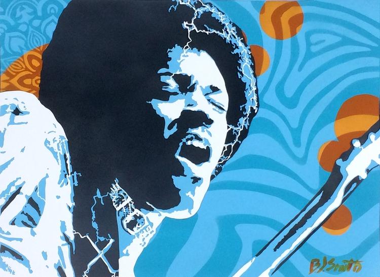 Jimi (Hendrix) – 23″x17″ Hand C - bjsmith | ello