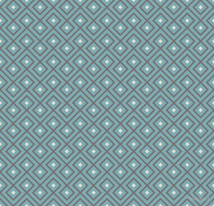 Geometric Pattern: Loop Diamond - red_wolf | ello