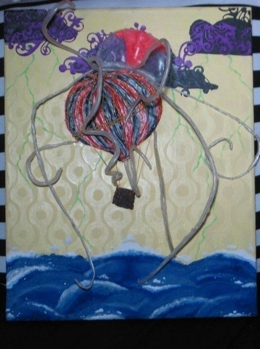 hotairballoons, jellyfish, outatsea - anomalousalchemy | ello