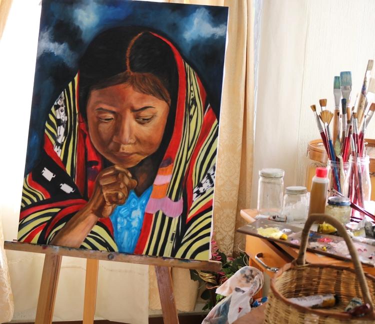 artwork, girl, fineart - klaug | ello