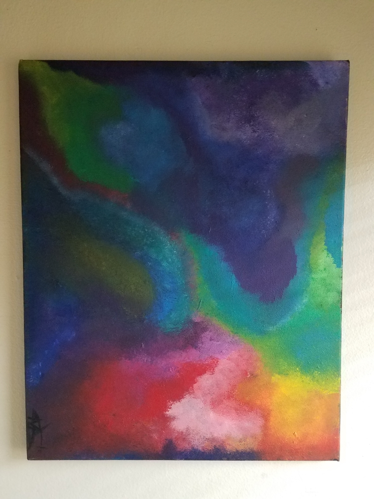Cosmic Oasis. Acrylic Canvas Ma - mariexsosa | ello