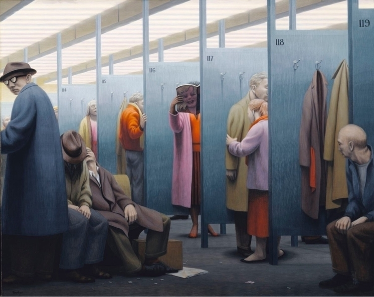 Waiting Room George Tooker 1959 - bitfactory | ello