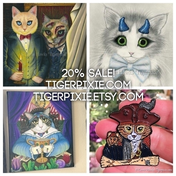 Happy Year Sale! 20% Sale run S - tigerpixie | ello