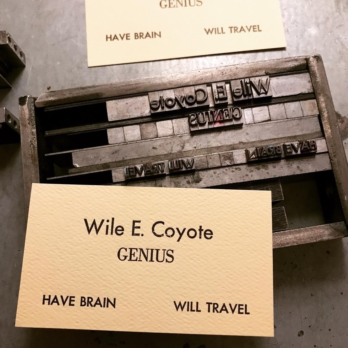 stable genius | - letterpress - sheasmith | ello