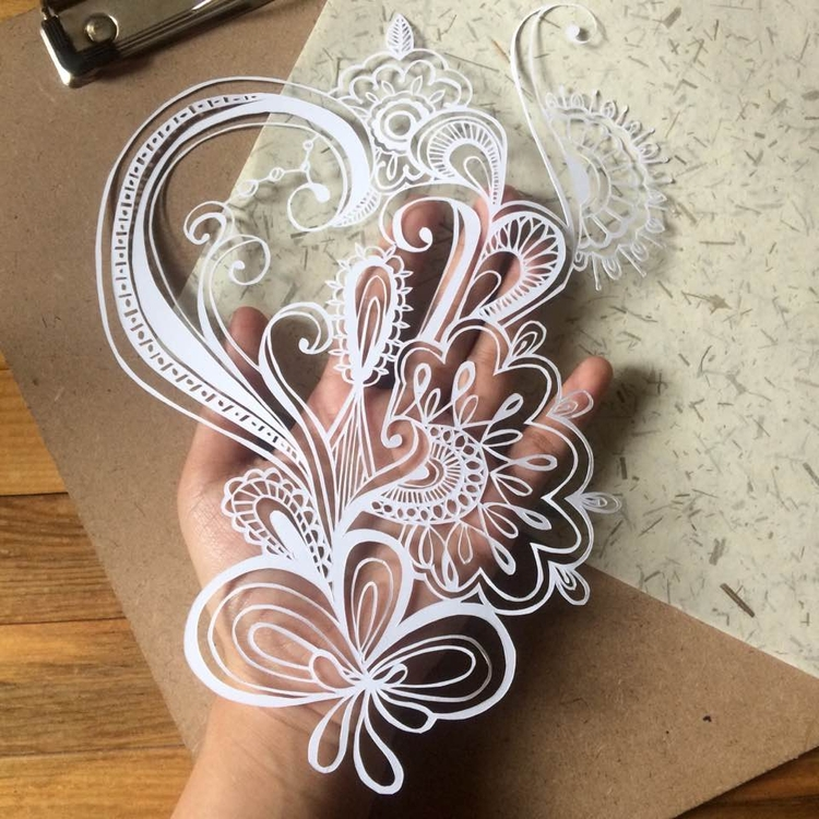 Dex doodle papercut version - papercutting - mjroxas | ello