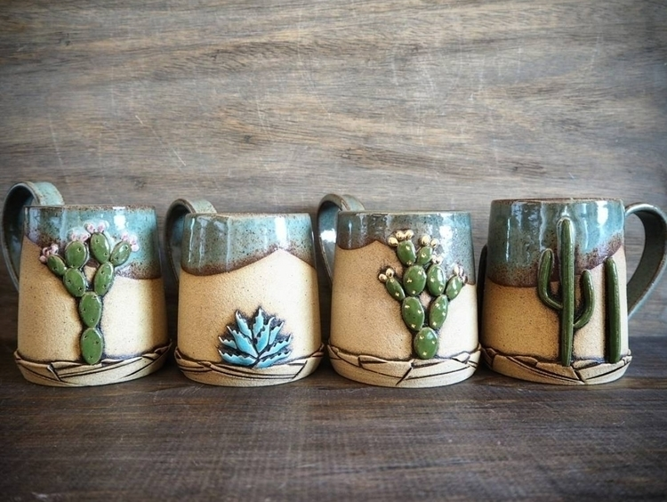 Desert Series - cacti, succulents - seedlingclayworks | ello