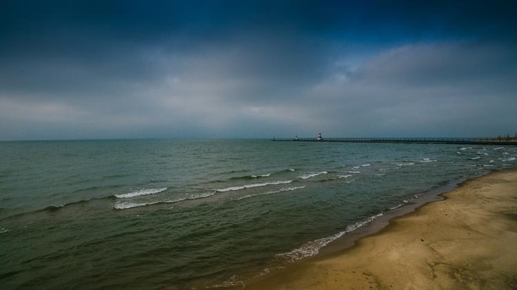 Stormy waters St. Joseph, Michi - leahtribbett | ello