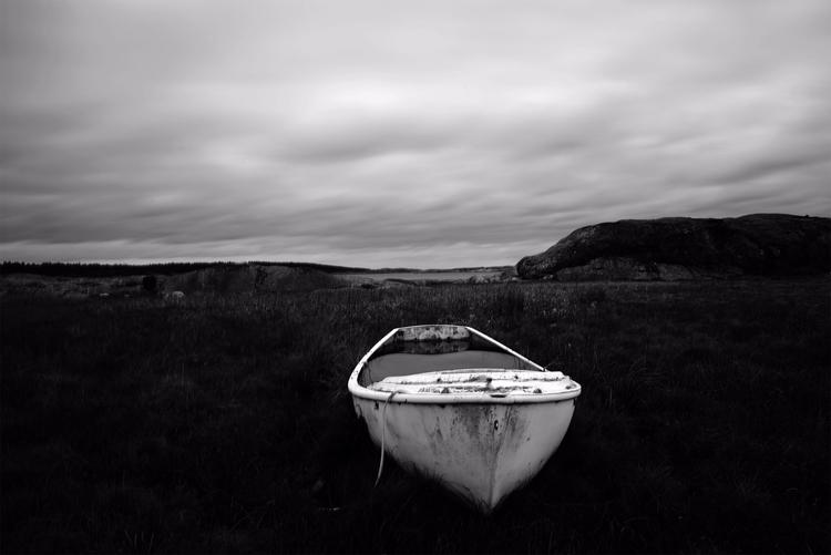 Storm - Boat, BlackandWhite, stranded - mikael_agren_photography | ello